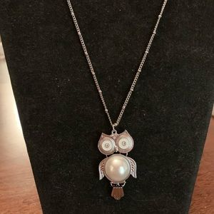 """NWT Owl necklace, 32"""" in length."""
